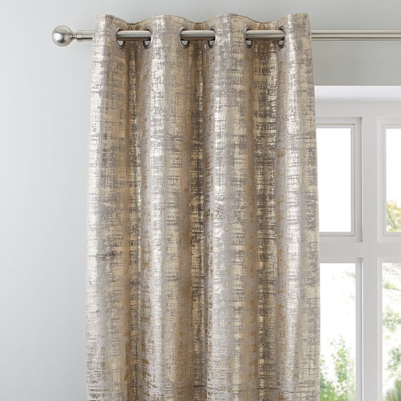 Romano Gold Velour Eyelet Curtains Gold undefined