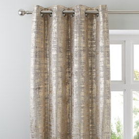 Romano Gold Velour Eyelet Curtains