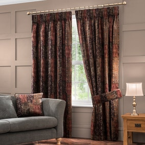 Belmont Burgundy Velvet Pencil Pleat Curtains