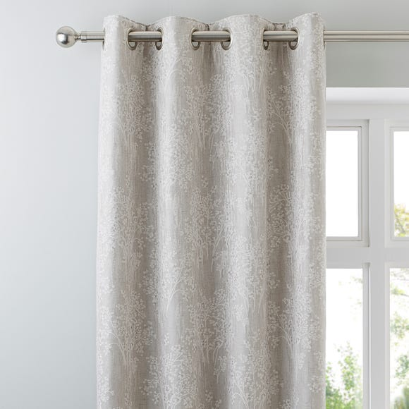 Adrianna Natural Eyelet Curtains Natural undefined