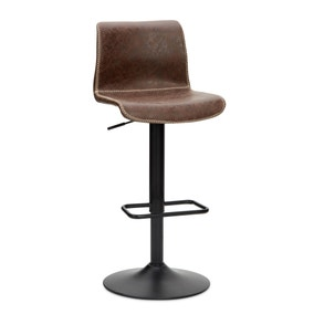 Venice Bar Stool Brown PU Leather