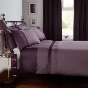 Julianna Purple Duvet Cover and Pillowcase Set