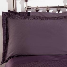 Julianna Purple Oxford Pillowcase