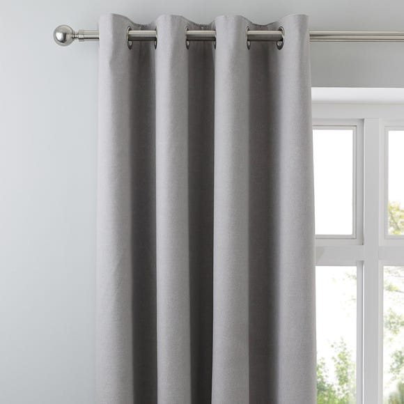 Tyla Silver Blackout Eyelet Curtains Silver undefined