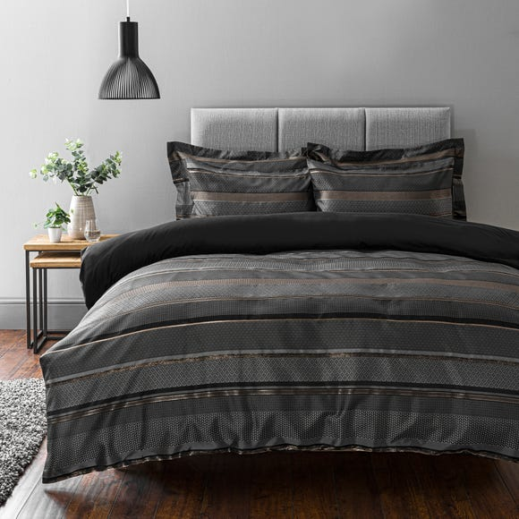 Hudson Grey Duvet Cover and Pillowcase Set  undefined