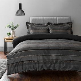 Hudson Grey Duvet Cover and Pillowcase Set