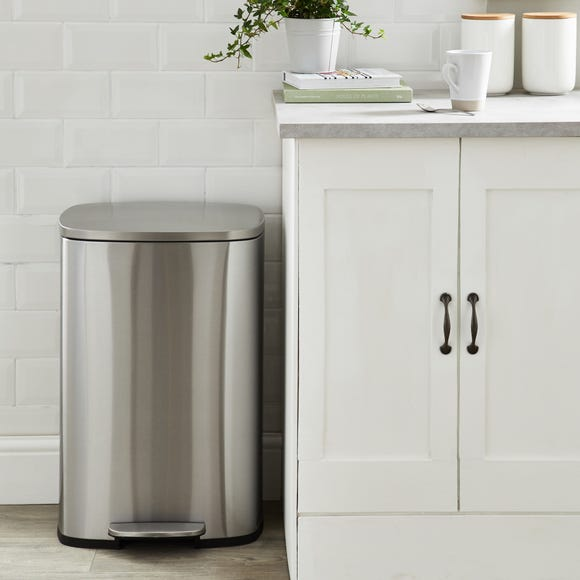 Stainless Steel 50L Pedal Bin Stainless Steel