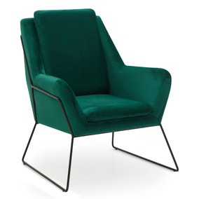 Ferne Metal Framed Chair - Emerald