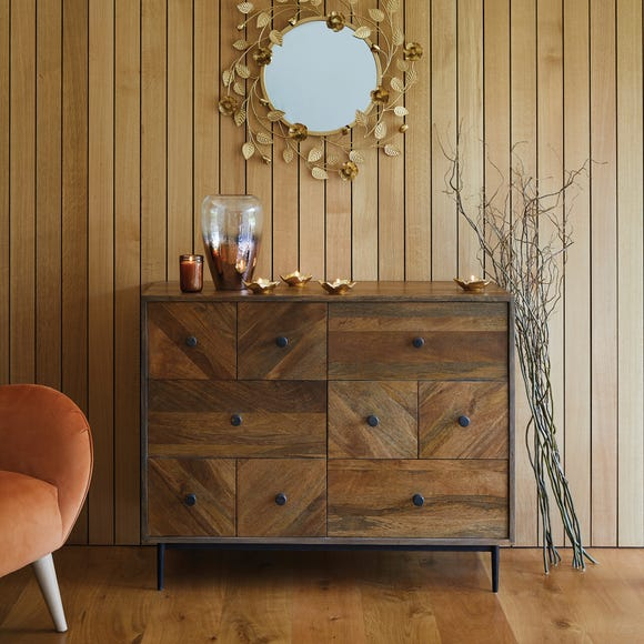 Finchley Multi Drawer Chest Wood (Brown)