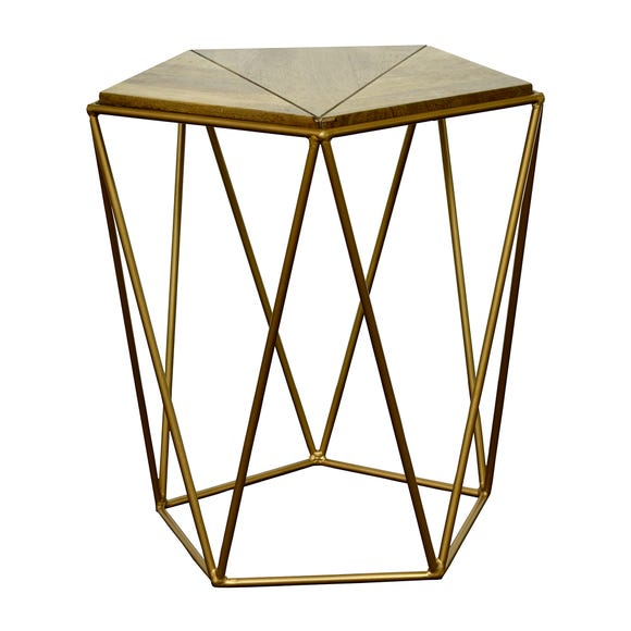Charter Wood Accent Table Gold