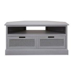 Lucy Cane Grey Corner TV Stand
