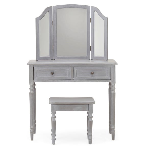 Lucy Cane Grey Dressing Table Set Slate (Grey)
