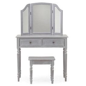 Lucy Cane Grey Dressing Table Set