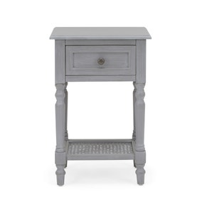 Lucy Cane Grey Nightstand