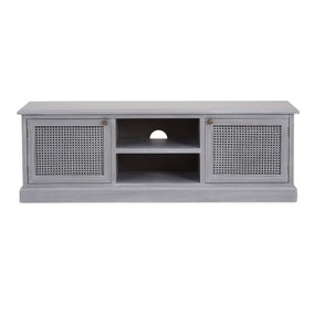 Lucy Cane Grey Wide TV Stand
