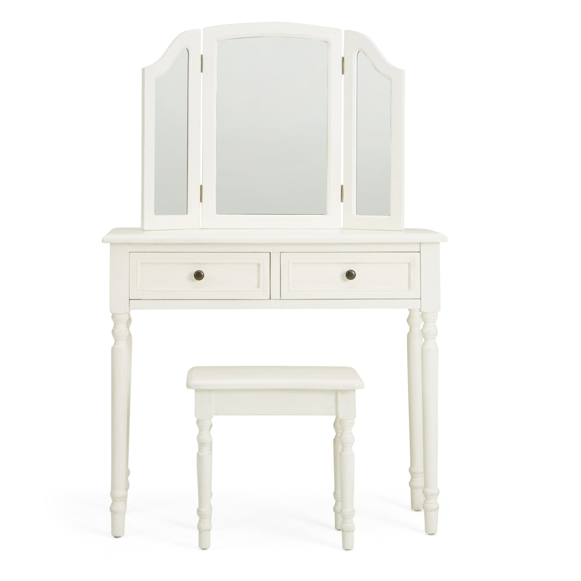 Lucy Cane Cream Dressing Table Set White