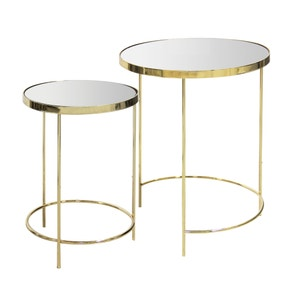 Ritz Mirrored Nest of Tables