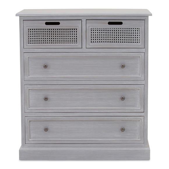 Lucy Cane Grey 5 Drawer Chest Slate (Grey)