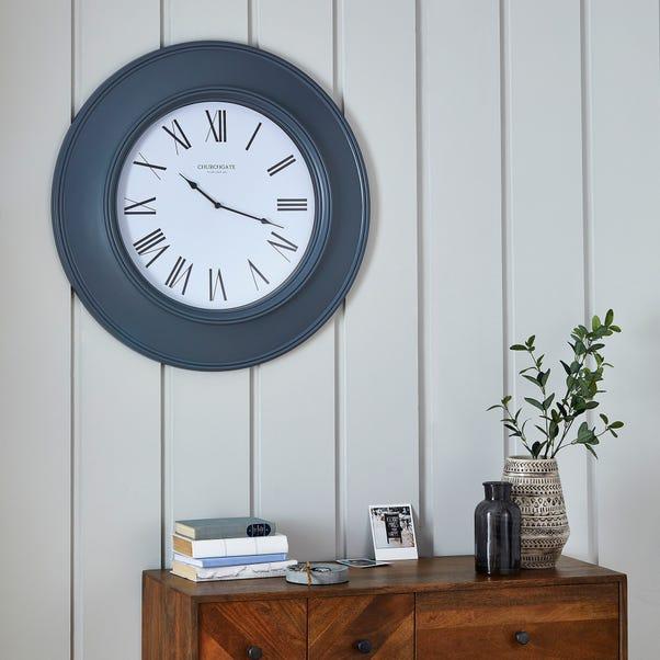 Grantham 77cm Station Wall Clock Grey Grey