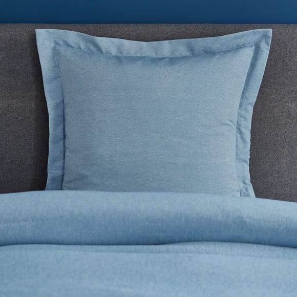 Fogarty Soft Touch Marl Effect Denim Continental Square Pillowcase Denim