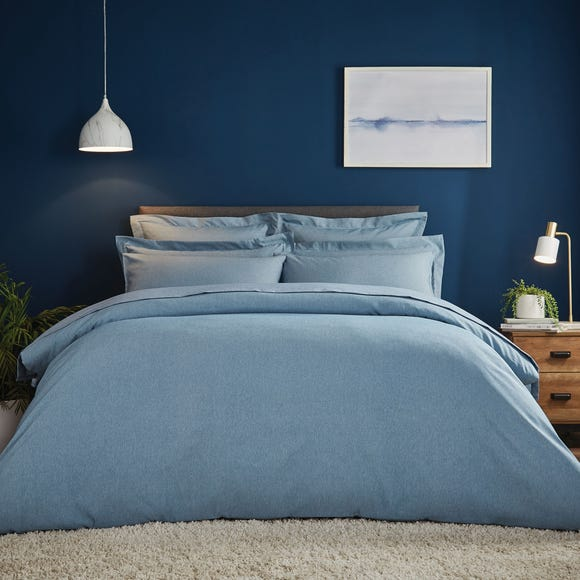 Fogarty Soft Touch Marl Effect Denim Duvet Cover and Pillowcase Set  undefined