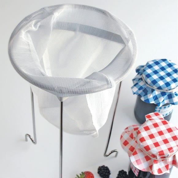 Stainless Steel Jam Strainer With Straining Bag Silver