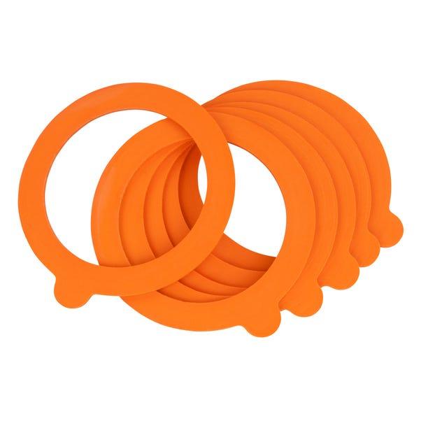 Set Of Six Replacement Sealing Rings Orange