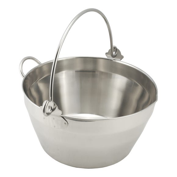 Stainless Steel Maslin 8L Jam Pan With Handle Silver