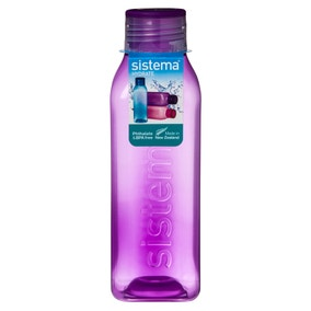 Sistema 725ml Square Water Bottle Assorted Colours
