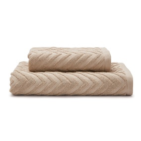 Chevron Sculptured Stone Towel