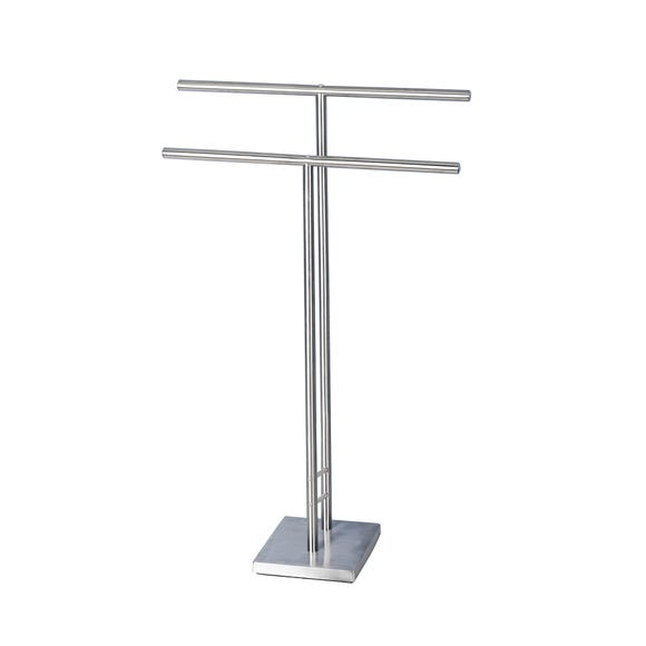 Manhattan Freestanding Towel Rail Silver
