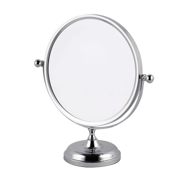 Oversized Chrome Mirror Silver