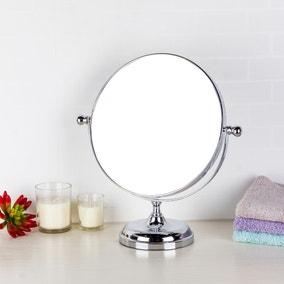 Oversized Chrome Mirror