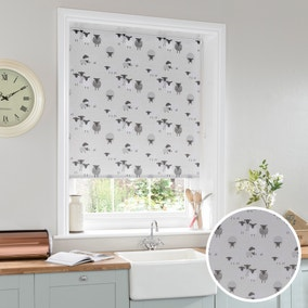 Billie Bah Sheep Stain Resistant Grey Daylight Roller Blind