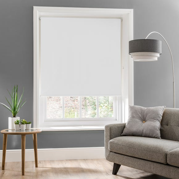 Luna White Blackout Roller Blind  undefined