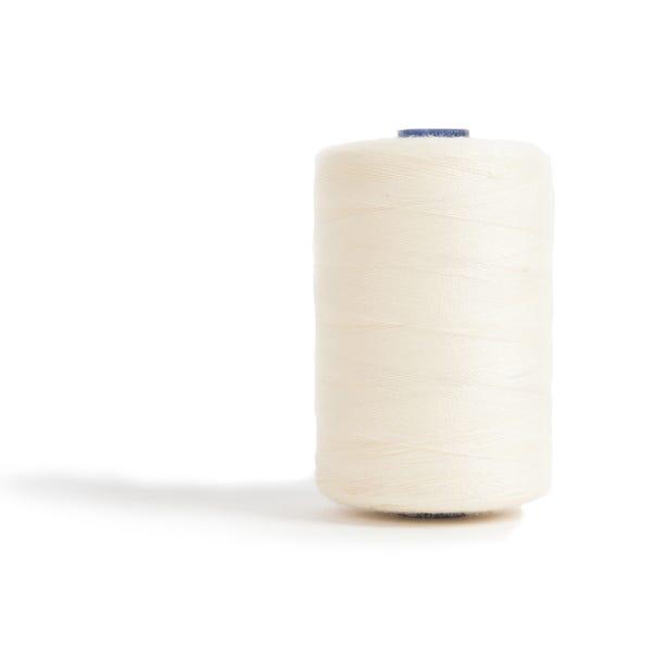 Sewing and Overlocking Cream 1000m Thread