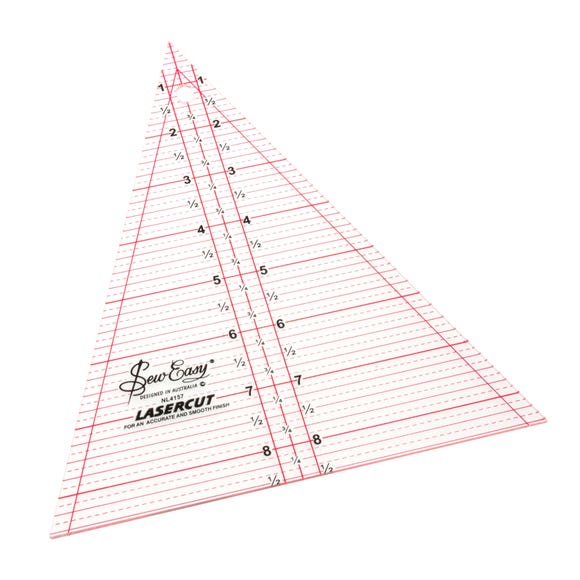 Patchwork 8.5 x 7 Inch Triangle Ruler White