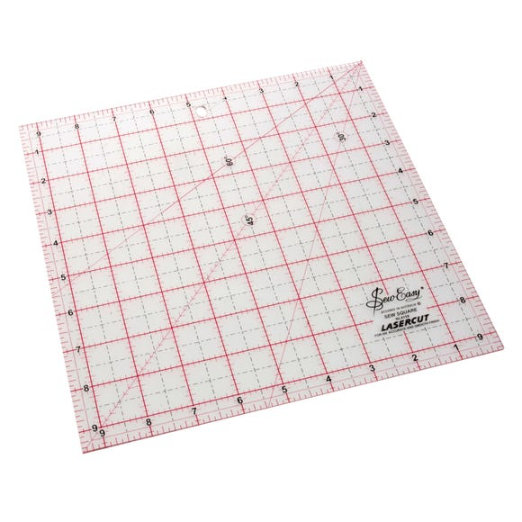 9.5 Inch Square Patchwork Template White