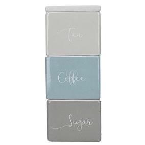 Stacking Tea Coffee Sugar Jars
