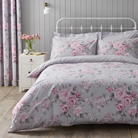Rosemont Grey Duvet Cover and Pillowcase Set