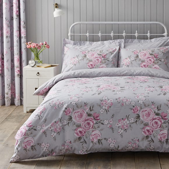 Rosemont Grey Duvet Cover and Pillowcase Set Grey undefined