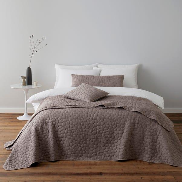 Pebble Mauve Bedspread  undefined
