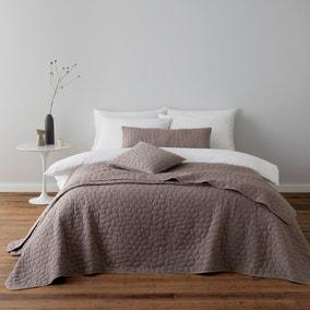 Pebble Mauve Bedspread