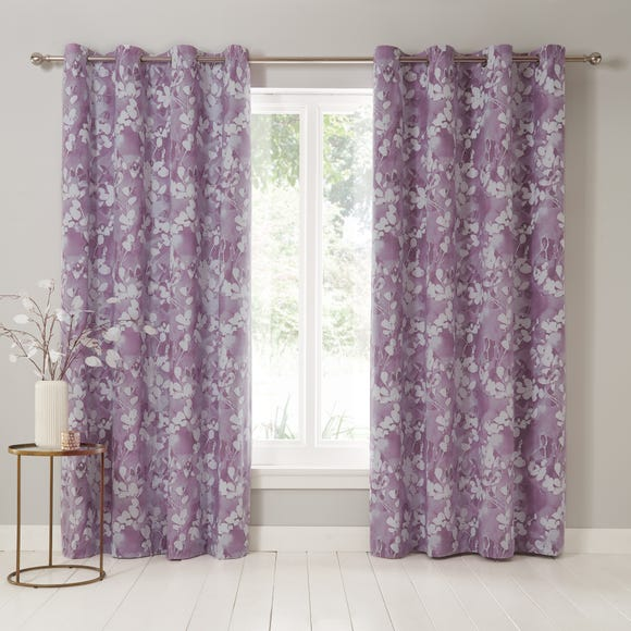 Honesty Mauve Eyelet Curtains Purple undefined
