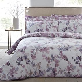 Honesty Mauve Reversible Duvet Cover and Pillowcase Set