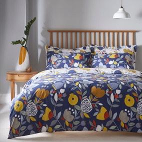 Elements Pomegranate Reversible Duvet Cover and Pillowcase Set