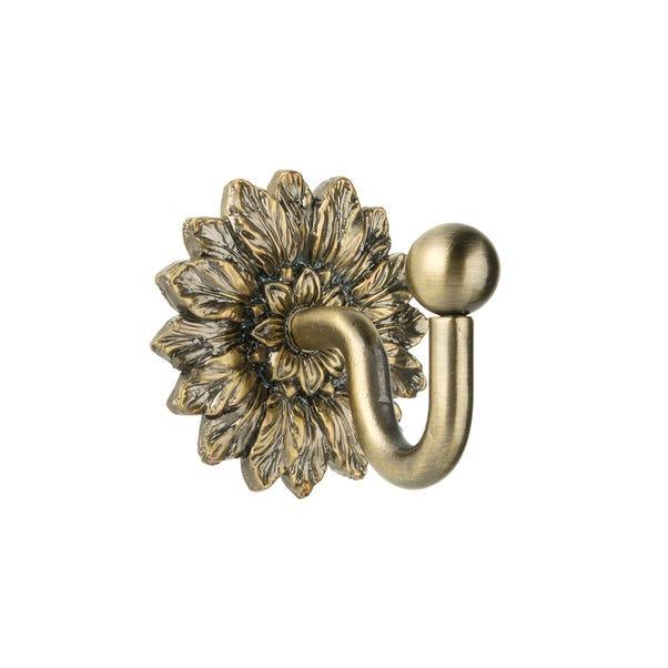 Leaf Back Plate Antique Brass Hook Antique Brass