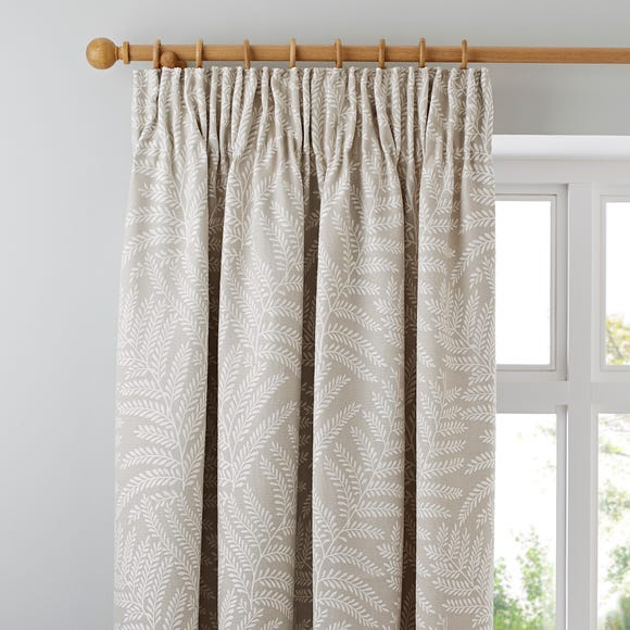 Alderly Natural Pencil Pleat Curtains Natural undefined
