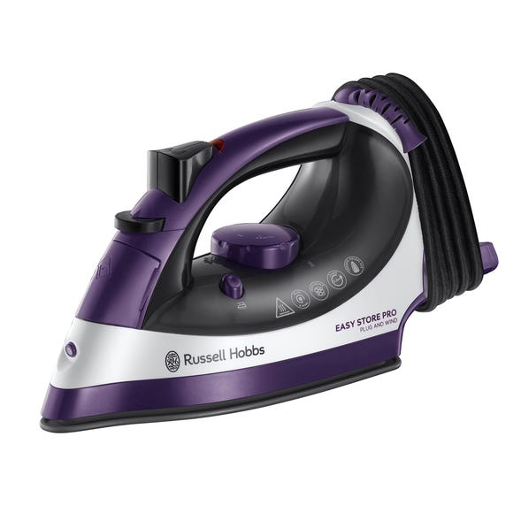 Russell Hobbs Easy Store Pro Plug And Wind Iron Purple