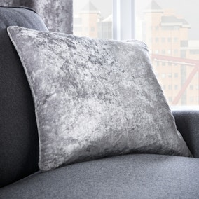 Crushed Velour Silver 45cm x 45cm Cushion